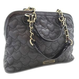 GORGEOUS Betsey Johnson Quilted Hearts Purse